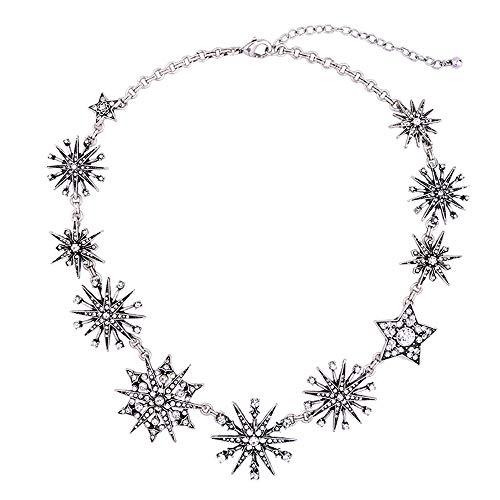 AMTBBK Cristal De Diamante Estrella Colgante, Collar Pendiente, Collar De La Vendimia,...