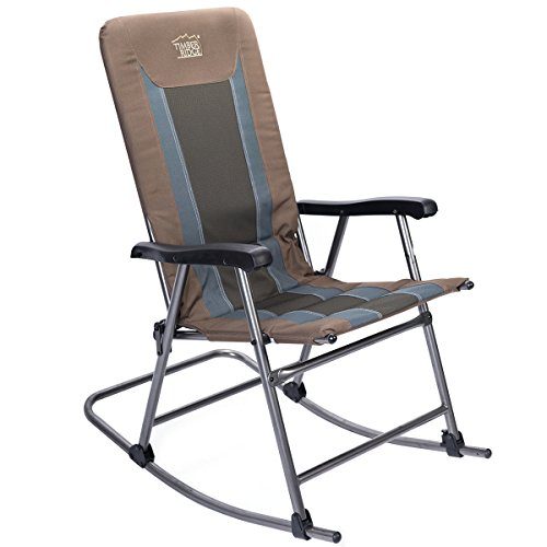 Smooth Glide Lightweight Padded Folding Rocking Chair