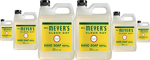 Mrs. Meyer's Clean Day Liquid Hand Soap Refill, Cruelty Free and Biodegradable Hand Wash Made with...