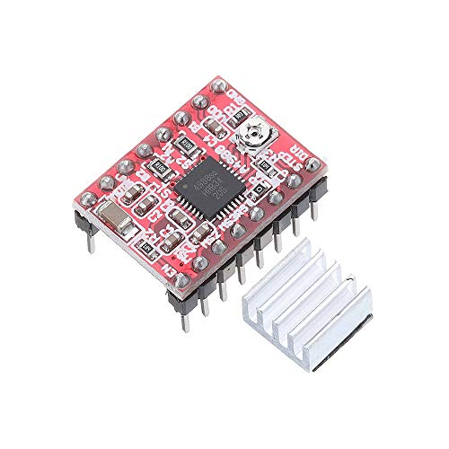 ORIGO 10pcs A4988 Treibermodul Schrittmotortreiber-Board mit Heatsink
