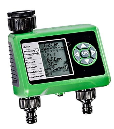 Bewässerungscomputer GLO-52 mit 2 Auslässen Display elektronisch automatisch digital