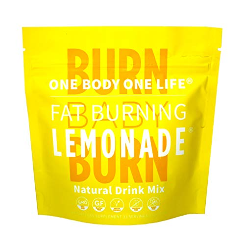 Fat Burning Lemonade All Natural Stimulant-Free Weight Loss Support Drink for Men & Women, All-in-one Pre Workout Energy Booster and Post Workout Recovery for Fat Burning, Metabolism and Weight Management Celebrity Endorsed