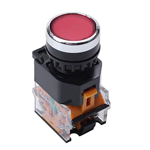 Gesh LA38-11/203 Interruptor de presión momentáneo, resistente, color rojo