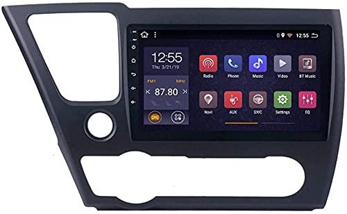 Schermo a 8 pollici stereo da 9 pollici Autovisione per Honda Civic 2014-2017, GPS/FM/Bluetooth/Controllo del volante/Connessione a specchio/Vista posteriore