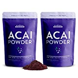 SB Organics Acai Powder - 1 lb (2 Pk 8 oz) Organic Non-GMO Vegan Freeze-Dried Acai Berry Powder from Brazil - Free of Gluten, Dairy, and Soy