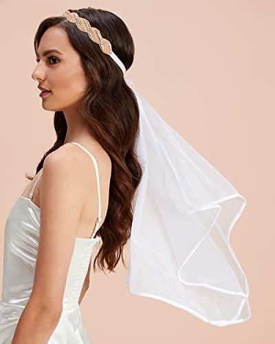 xo, Fetti Bachelorette Party Decorations Veil - Rose Gold Beaded...