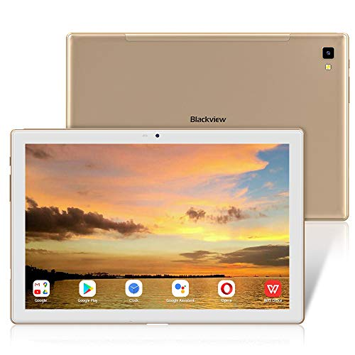 10.1 Inch Android Tablets,Blackview TAB 8E Tablet,13MP Rear Camera,1200 * 1920 FHD+ IPS Displsy,Octa-core Processor,6580mAh Battery,Android 10 Tablets,3GB ROM+32GB RAM,Bluetooth,Wifi,Face ID,OTG-Gold