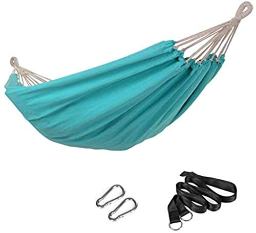 MKO Hammock, 210 x 150 cm, Double Hammock, 300 kg Load Capacity, for Terrace, Balcony, Garden, Outdoor, Camping, with Carry Bag, Fastening Straps and Carabiners,Turquoise