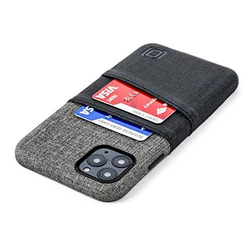 Dockem Luxe M2 Funda Cartera para iPhone 11 Pro MAX (6.5): Funda Tarjetero Delgada con Placa de Metal Integrada para Soporte Magnético: Serie M [Negro y Gris]