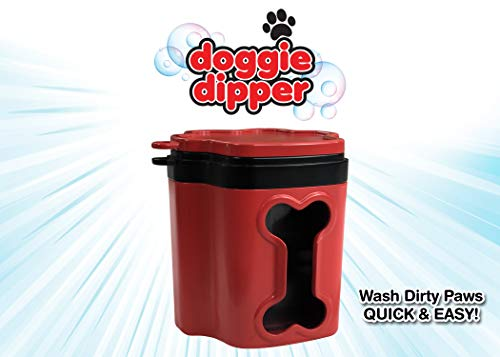 Doggie Dipper - Portable Dog Paw Cleaner/Washer - Quick & Easy to use - Keeps Furniture and Carpet...