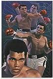 Adultos Puzzle 1000 Piezas Niños Rompecabezas Marcial Mohammad Ali 6 29.5x19.6inch(75x50cm) Sin Marco