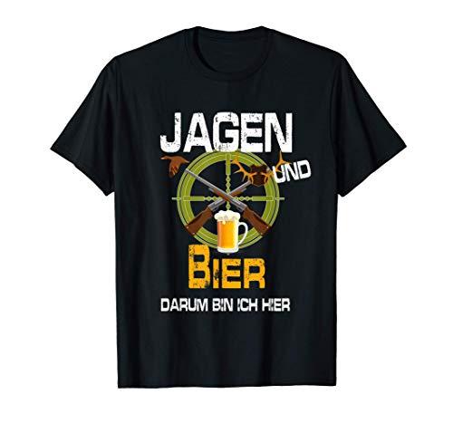 Jagen und Bier Spruch Weidmann Weidmannsheil Jungjäger T-Shirt