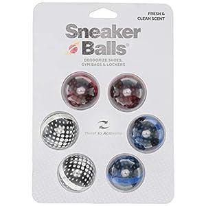 Sof Sole Sneaker Balls Shoe, Gym Bag, and Locker Deodorizer, 3 Pair, Matrix