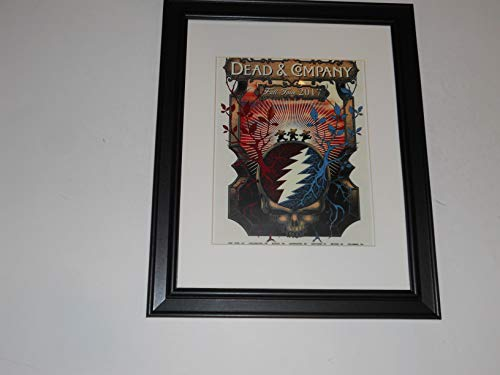 Framed Dead & Company 2017 Fall Tour Poster Grateful Dead John Mayer 14'x17'