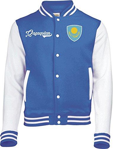 Aprom-Sports Kasachstan College Jacke - Retro - Blau - 1 (XL)
