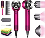 Premium Dyson Supersonic Hair Dryer Limited Special Gift Edition: Fast Drying, Controlled Styling, Powerful, Low Noise, Light Weight, Engineered for Different Hair Types w/One Maxitek Microfiber Cloth
