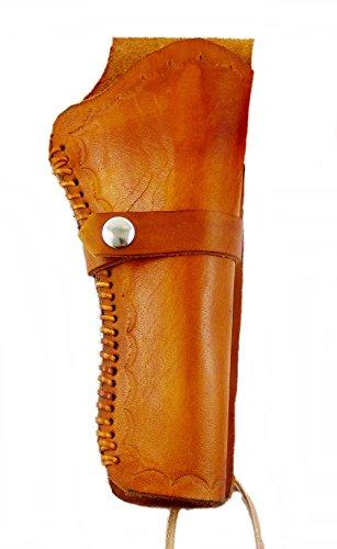 Holster Westernholster Rechts oder Links Hellbraun Handarbeit Rindsleder Peacemaker Colt (rechts)