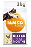 IAMS for Vitality Dry Kitten Food with Fresh Chicken, 3 kg