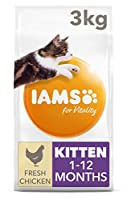 Kitten food with 91 percent of animal protein to support seven signs of healthy vitality Wheat free pet food with no fillers, artificial colours, flavours or GMOs Antioxidant blend with Vitamin E to help support the immune system of your pet Crunchy ...