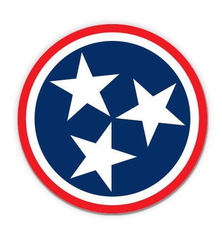 "GT Graphics Tennessee Stars - 3"" Vinyl Sticker - for Car Laptop I-Pad Phone Helmet Hard Hat - Waterproof Decal"