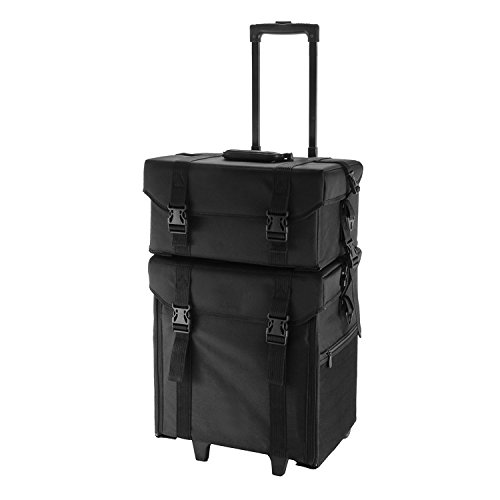 Buoqua 2 In 1 Kosmetikkoffer SM805 Schminkkoffer Make-up Beauty Carry Case 4 Trolley große Lagerung (SM805)