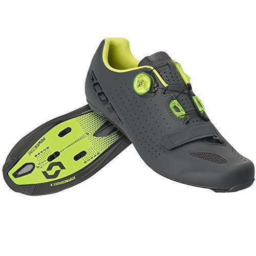 Scott Road Vertec Boa Rennrad Fahrrad Schuhe grau/gelb 2020: Größe: 45