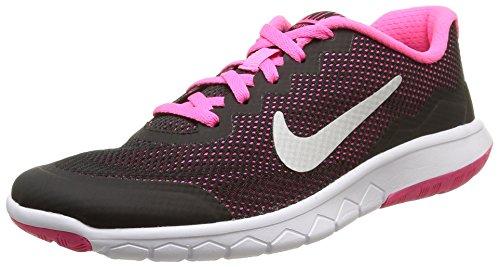 Nike Unisex-Kinder Jr Flex Experience 4 Gs Sneaker, schwarz/rosa, 36 EU