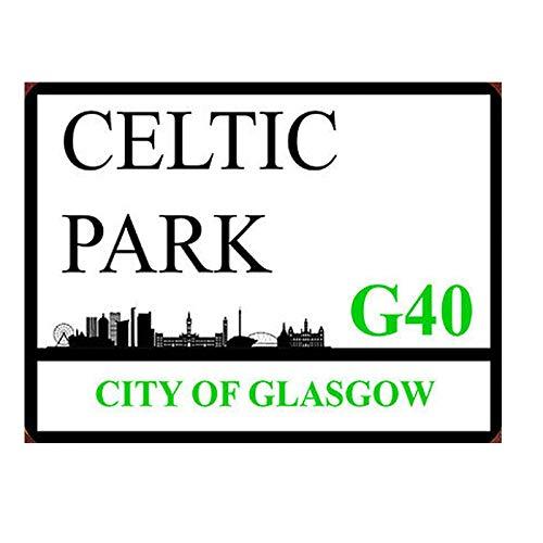 BCTS Celtic Park Placa de pared de metal con texto