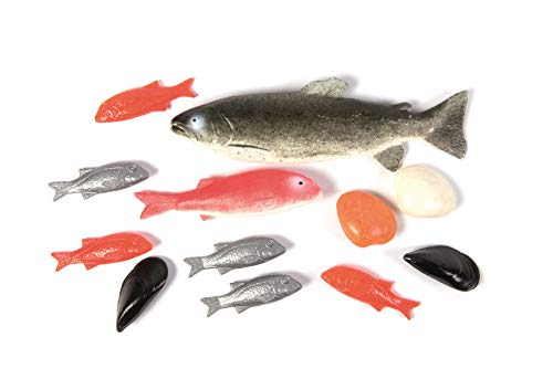 ERRO Juego de 12 peces A – plástico falsas falsas 41070 – Seafood para decoración, imitación marítima