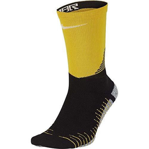 Nike Erwachsene Grip Neymar Fußballstutzen, Black/White/Amarillo, 8-9.5/EU 41-43