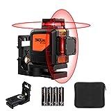 360ºx2 Nivel Láser con Autonivelación, Tacklife SC-L04, 30M, Inclinación, línea vertical y horizontal autonivelante de 360, IP 54, Incluyendo bolsa protectora, Soporte magnético giratorio etc.