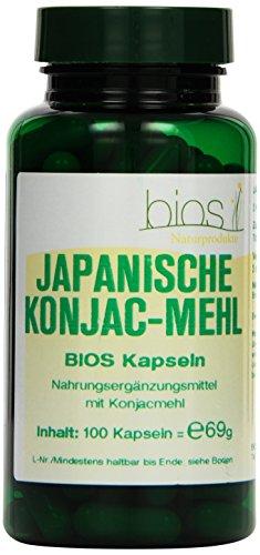 Bios Japanische Konjacmehl 600 mg Kapseln, 1er Pack (1 x 69 g)
