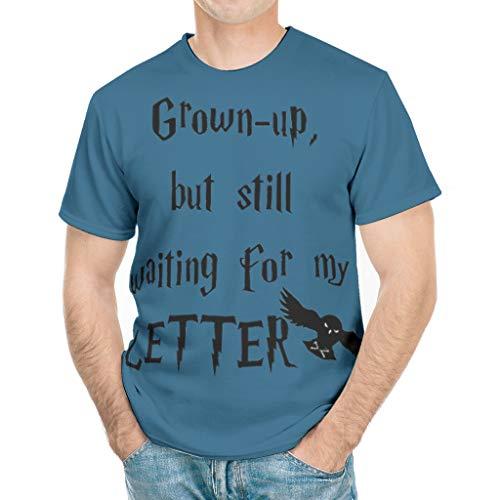 CATNEZA Mens nog steeds wachten op mijn brief bedrukt groot en hoog T-Shirt Sports Golf korte mouw Tees Polyester Top