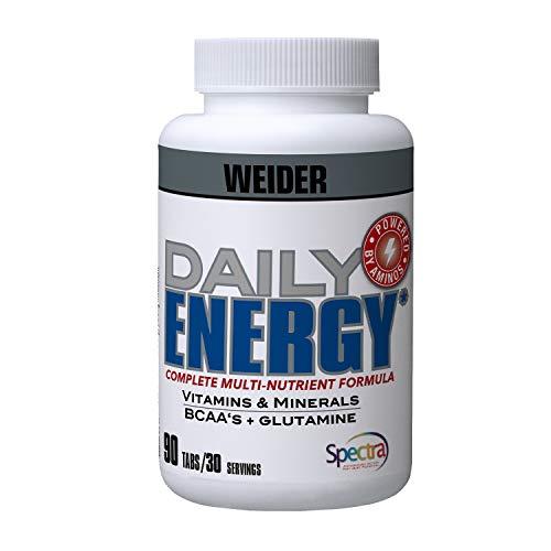 Weider Daily Energy 90 Unidades. Perfecto para reforzar el sistema inmunológico.