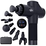 Fusion Muscle Massage Gun Deep Tissue Percussion Muscle Massager Gun for Athletes Pain Relief Therapy and Relaxation, Percussive Chiropractor Massager - Handheld Vibration Portable Drill Massager