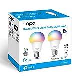 TP-Link - Bombilla LED Inteligente, Bombilla WiFi, Multicolor, Regulable, E27, 8.7W 806lm, Compatible Alexa, Echo y...