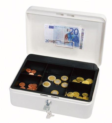 Wedo 145300H - Caja de caudales con clip, talla 3 (25 x 18 x 9 cm), blanco