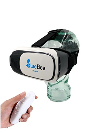 BlueBee Gafas VR + Mando a distancia (Realidad Virtual Genuine 3D Google Gafas /...