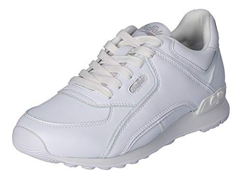 Buffalo Damen Sneaker Loke U, Frauen Low Top Sneaker, schnürer schnürschuh sportschuh Ladies feminin elegant Women's,Weiß(White),41 EU / 7 UK