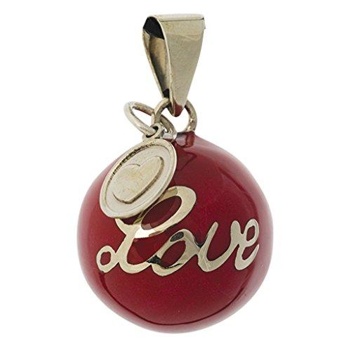 """Babylonia - Colgante con bola para embarazadas, diseño de""""love"""", color rojo"""