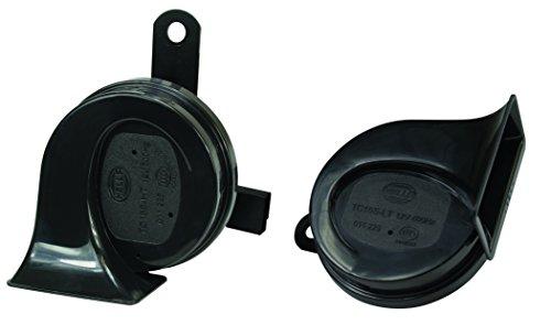 HELLA 012010901 Black 12V BX Trumpet Horn Kit (Toyota)
