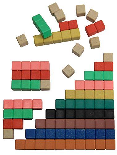 Wissner aktiv lernen 080510.IMP - RE Wood 30 farbige Rechenstäbe aus nachhaltigem, schadstofffreiem Material, anschauliches Lernmittel für den Zahlenraum bis 10