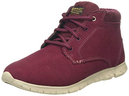 Regatta Damen Marine' Suede Leather Isulated Shoes Kurzschaft Stiefel, Rot (Burgundy/Warm Beige Un4), 41 EU