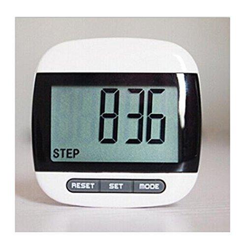Domire–Podómetro Multifunción con Pantalla LCD/paso cuenta/distancia y contador de calorías función con Clip de cinturón, color negro