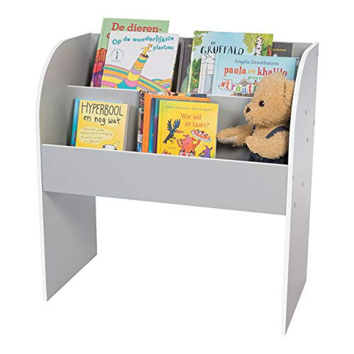 Kids Book Shelf KBS-2 Storage Unit for Books and Toys - Wood, Grey, L 67.4 x D 36 x H 69.8 cm