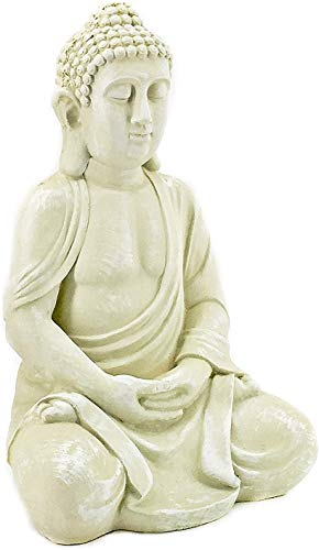 Bellaa 23615 Buddha Statues Meditation Outdoor Garden Decor Lucky Budha Japanese Zen Buddhist Presents for Mom Gifts for Grandma 20 inch