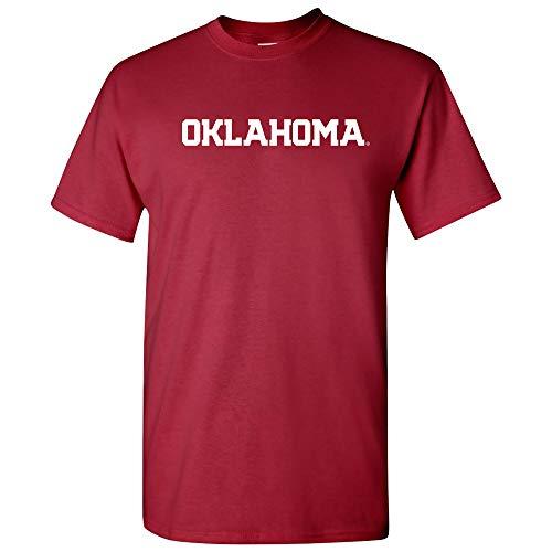 AS01 - Oklahoma Sooners Basic Block T-Shirt - X-Large - Cardinal