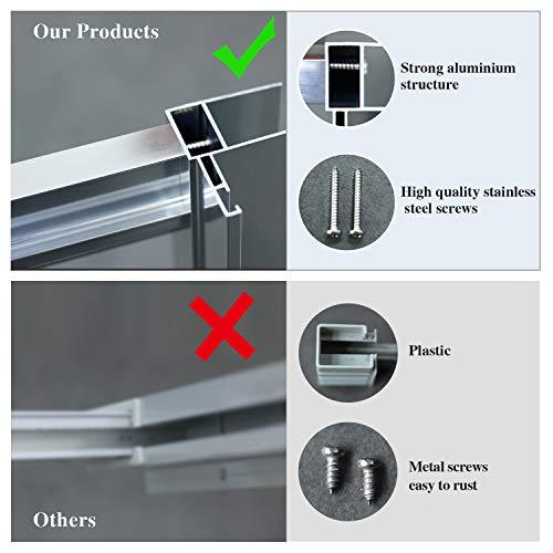 ELEGANT 1000mm Sliding Shower Door Enclosure Reversible 6mm Glass Shower Screen Bathroom Shower Cubicle