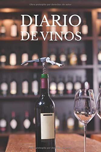 Diario de vinos: Es un cuaderno o libro para registrar catas de vino - 120 paginas, 16cmx23cm - ideal para los aficionados o amantes...