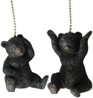 Set of Two Bear Ceiling Fan Pulls on Chain